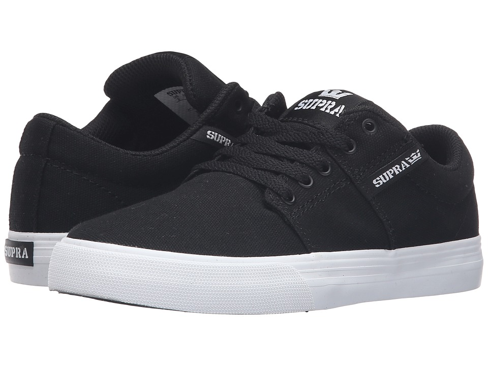 Supra Kids - Stacks Vulc II (Little Kid/Big Kid) (Black Canvas) Boys Shoes