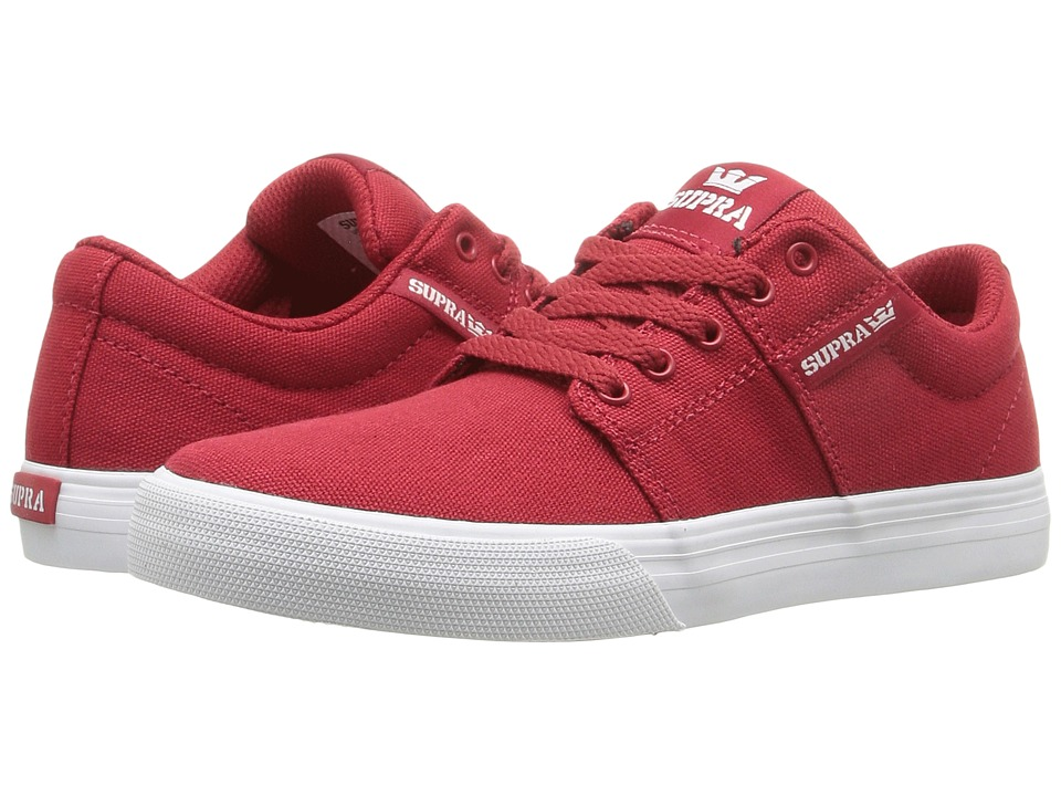 Supra Kids Stacks Vulc II (Little Kid/Big Kid) (Red Canvas) Boys Shoes