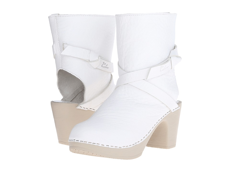 Calou Stockholm - Julia Open Back (White) Women's Shoes