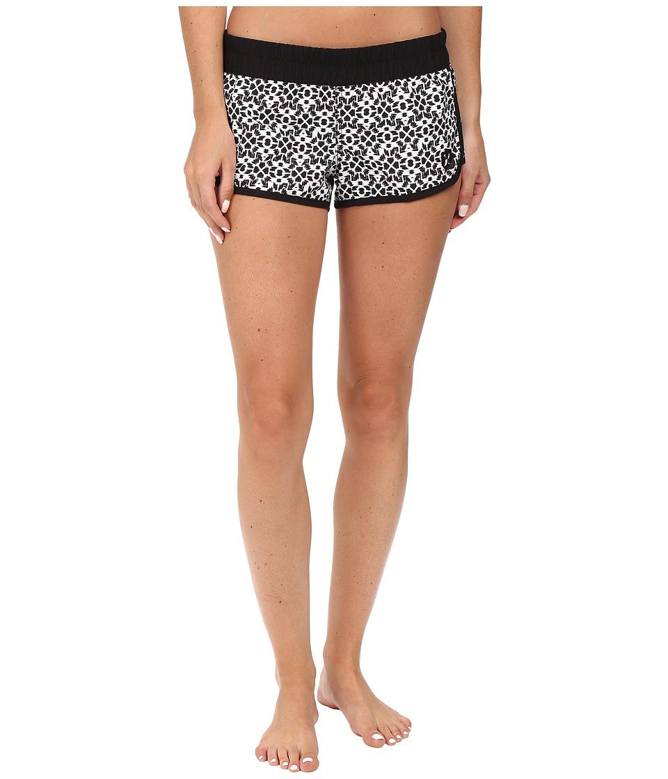 Hurley - Supersuede Printed Beachrider Boardshorts (White C) Women's Swimwear