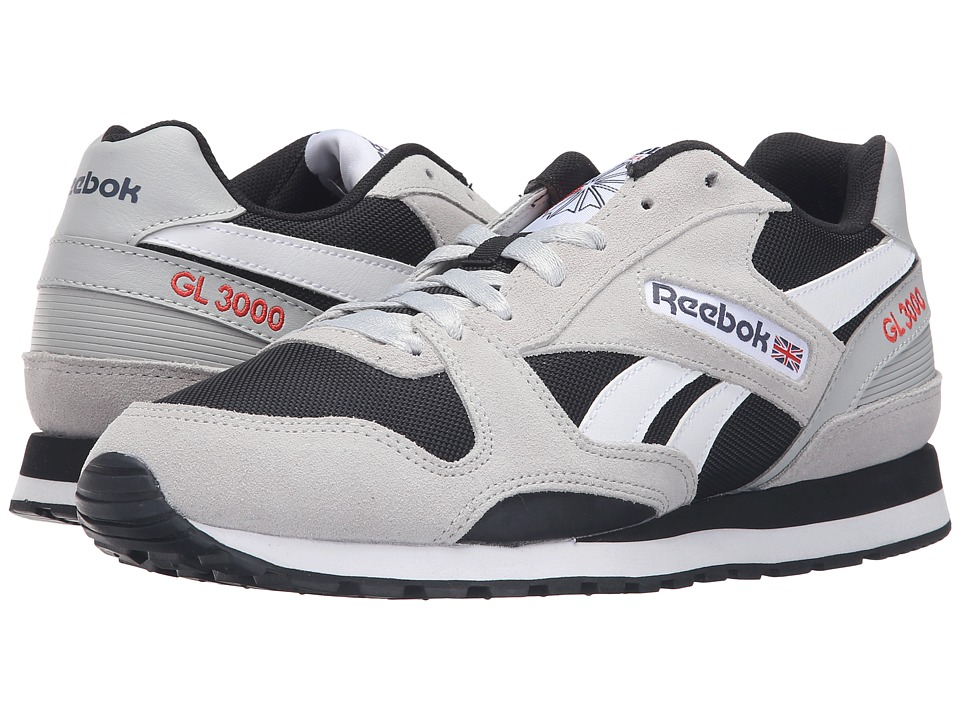 Reebok - GL 3000 (Skull Grey/Black/Blue Ink/Riot Red/White) Men's Classic Shoes