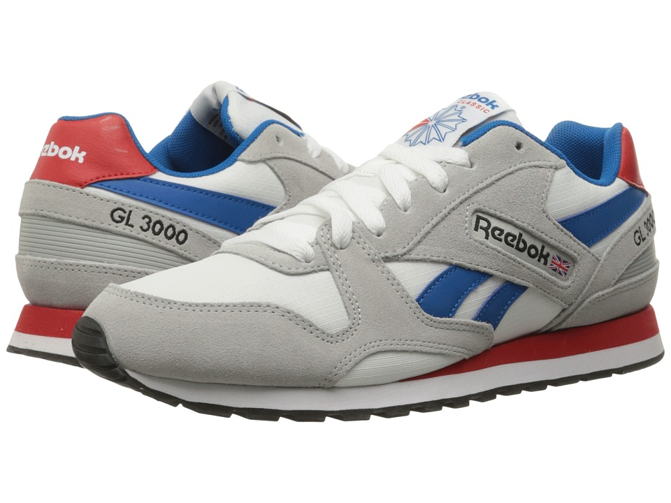 Reebok - GL 3000 (Skull Grey/White/Instinct Blue/Riot Red/Black) Men's Classic Shoes