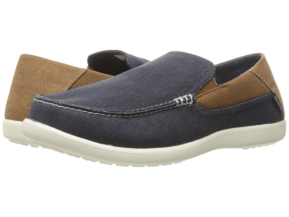 Crocs - Santa Cruz 2 Luxe (Navy/hazelnut) Men's Sandals