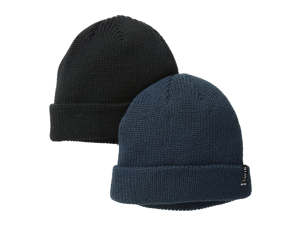 Tavik - 2 Pack (Black/Eclipse) Beanies