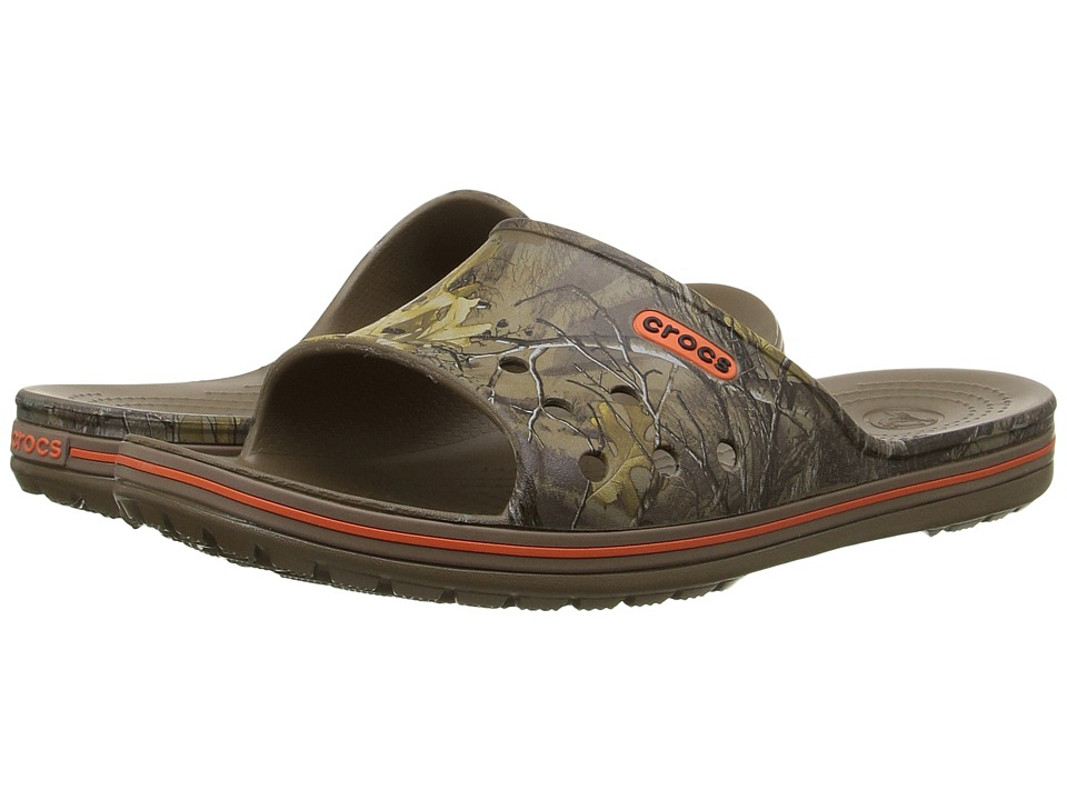 Crocs - Crocband Lopro Realtree Xtra Slide (Walnut) Sandals