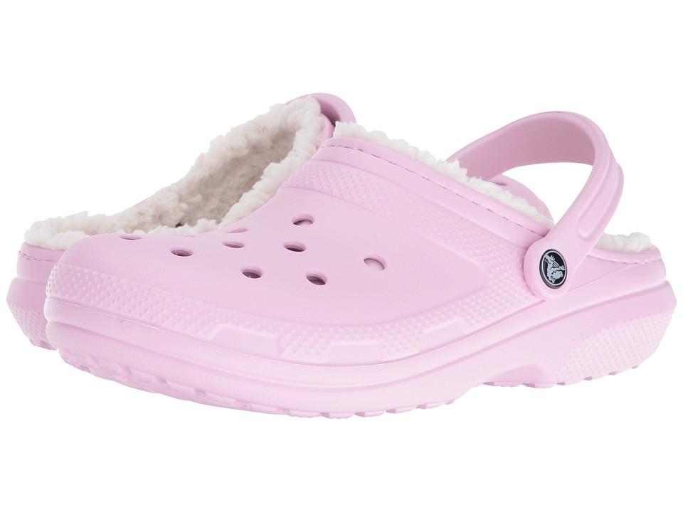 Crocs - Classic Lined Clog (Ballerina Pink/Oatmeal) Clog Shoes