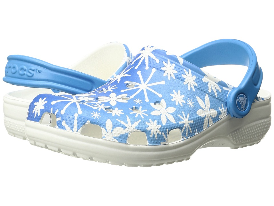 Crocs - Classic Snowflake Clog (Bluebell) Clog Shoes