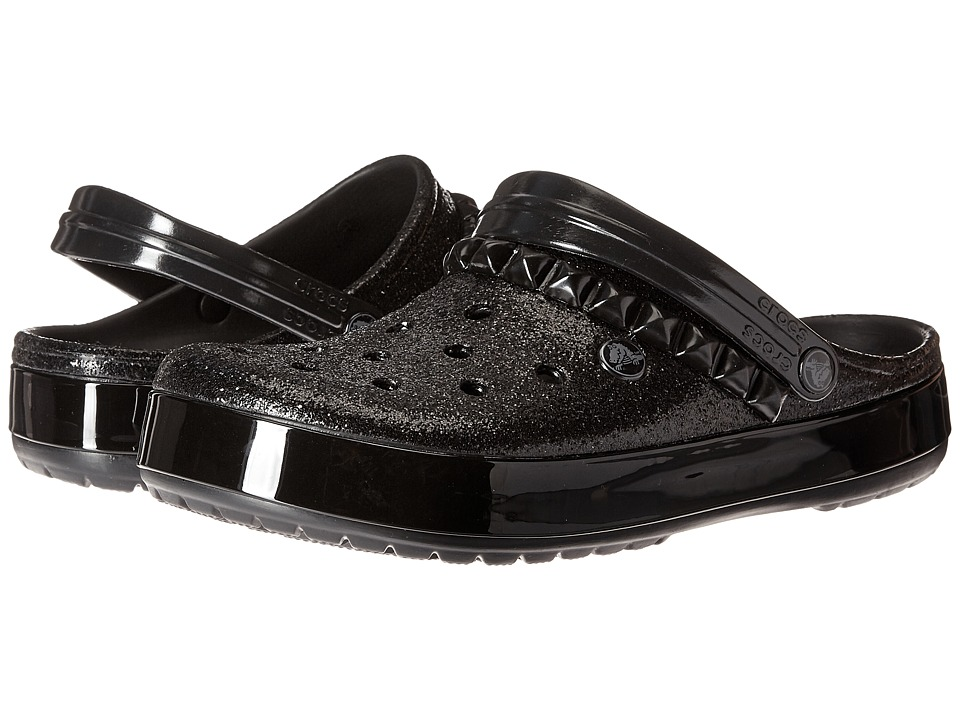 Crocs - Crocband Studded Clog (Black) Clog Shoes