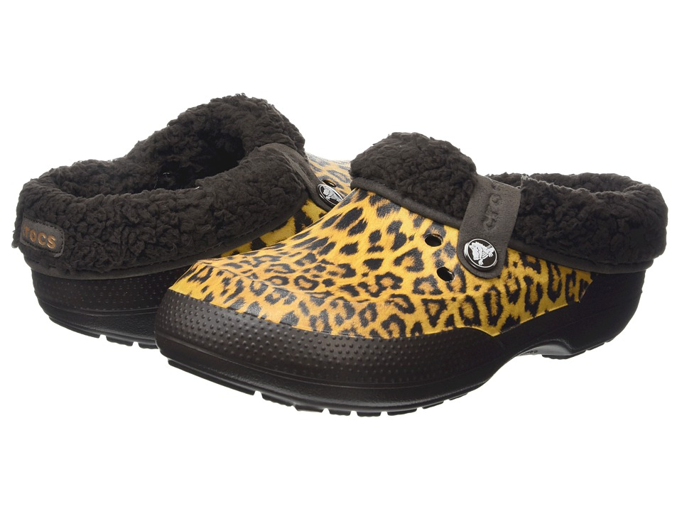 Crocs - Classic Blitzen II Animal Clog (Gold/Espresso) Clog Shoes