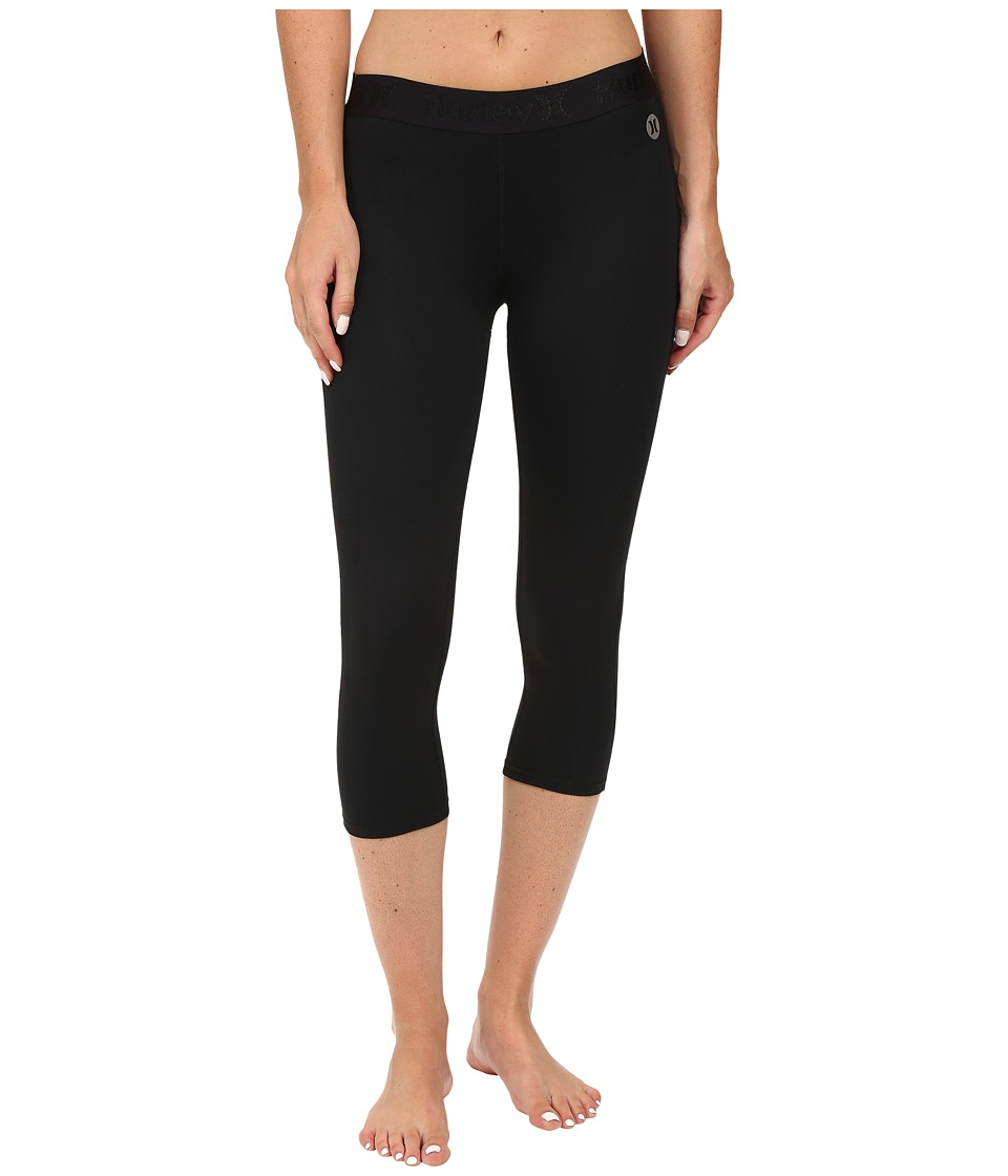 Hurley - Dri-Fit Crop Leggings (Black) Women's Workout