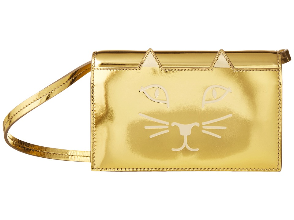 Charlotte Olympia - Feline Purse (Gold) Wallet Handbags
