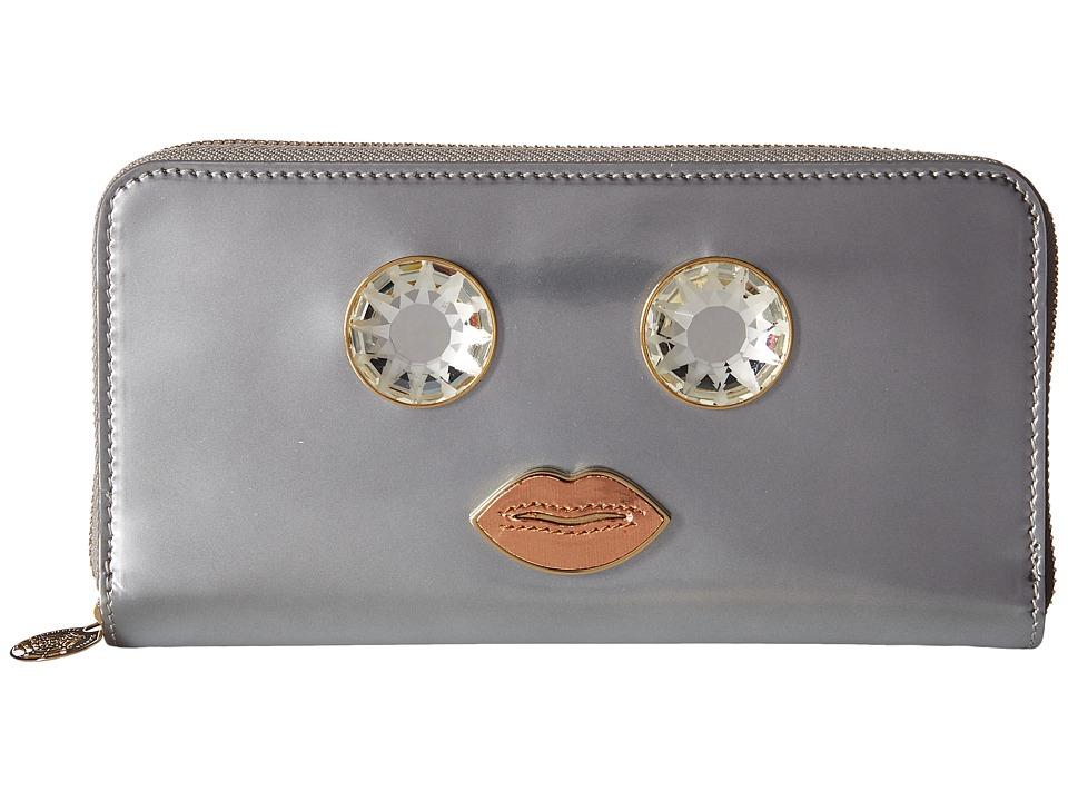 Charlotte Olympia - Zip Wallet (Silver) Wallet Handbags