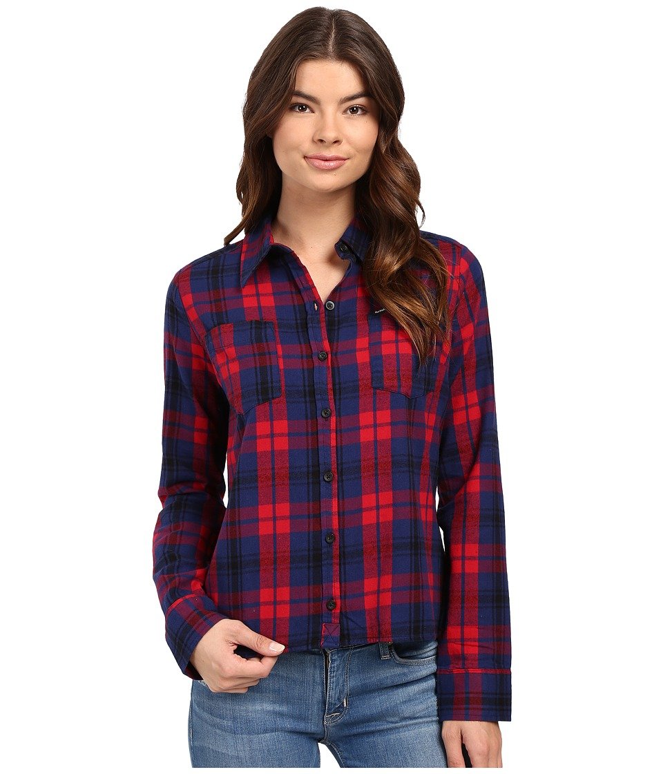 Hurley - Wilson Long Sleeve Button Up (Gym Red W) Women's Long Sleeve Button Up
