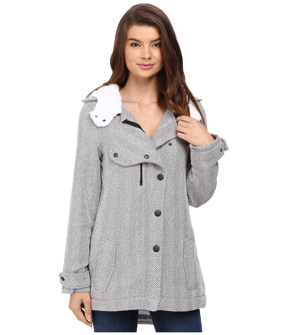 Hurley - Freda Jacket (Heather Grey) Women's Coat