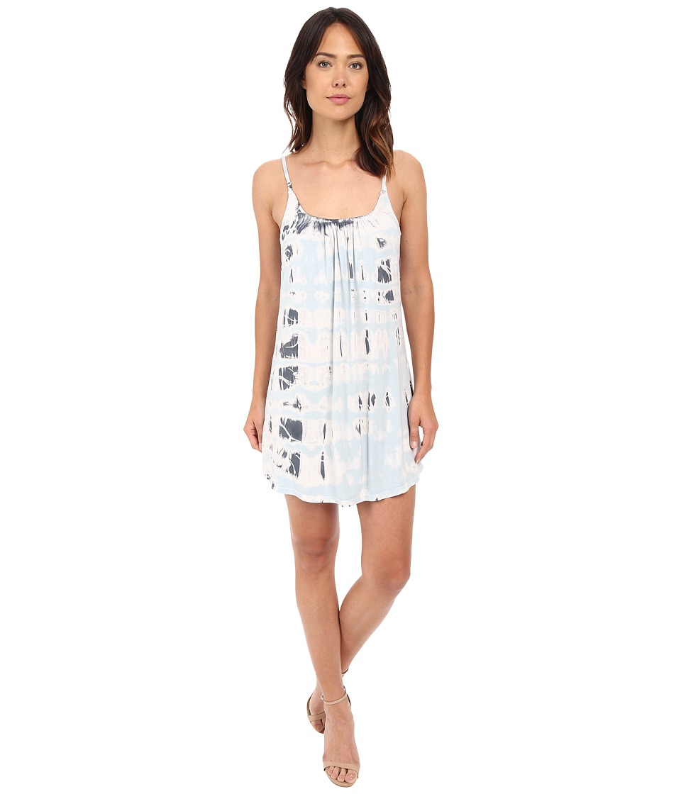 Gypsy05 - Spaghetti Strap Cross Back Mini Dress (Cloud) Women's Dress