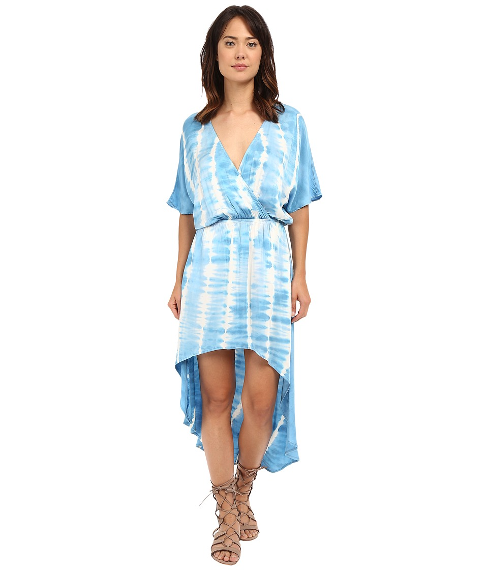 Gypsy05 - Dolman High-Low Tulip Dress (Aqua) Women's Dress