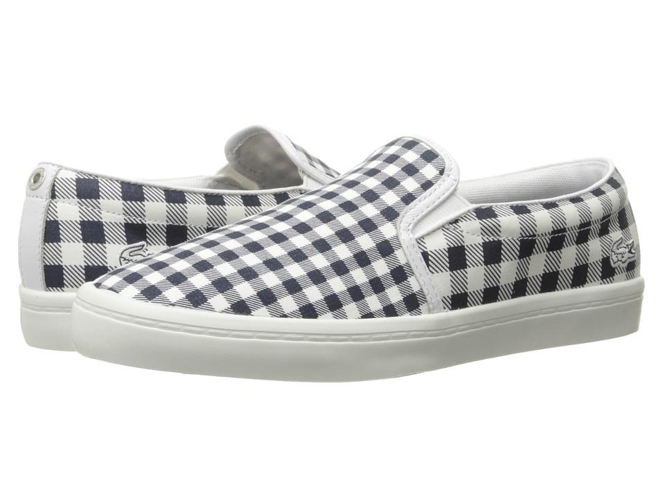 Lacoste - Gazon 216 1 (Navy) Women's Slip on Shoes