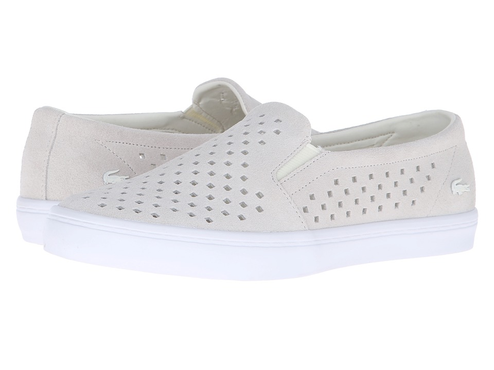 Lacoste - Gazon Slip-On 216 1 (Off-White/White) Women's Slip on Shoes