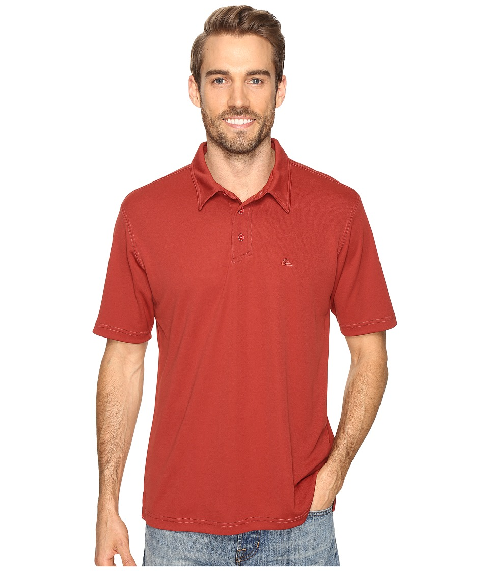 Quiksilver Waterman - Waterman Collection Water Polo 2 Knit Polo (Rosewood) Men's Short Sleeve Pullover