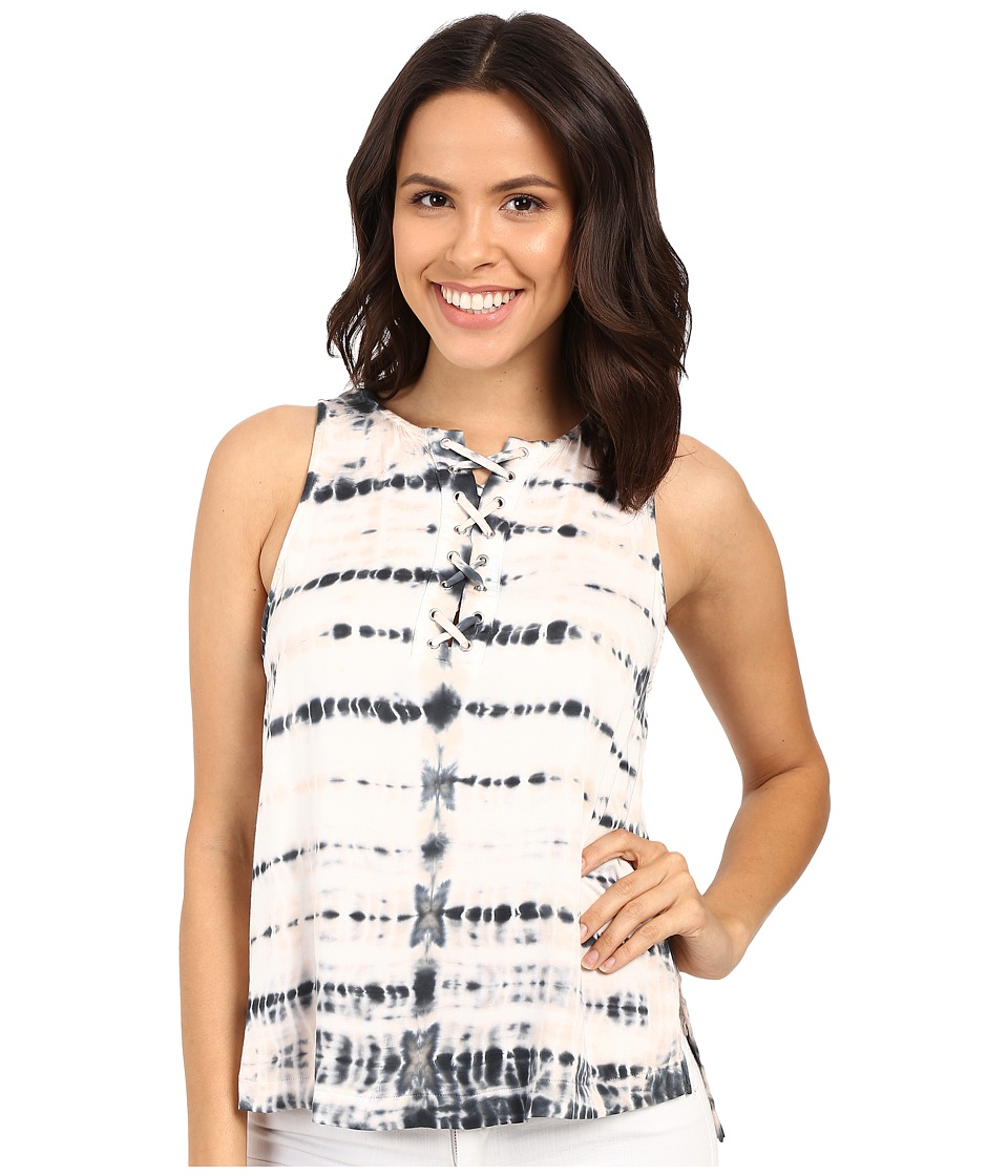 Gypsy05 - Tank Top with Laced Front (Pecan) Women's Sleeveless