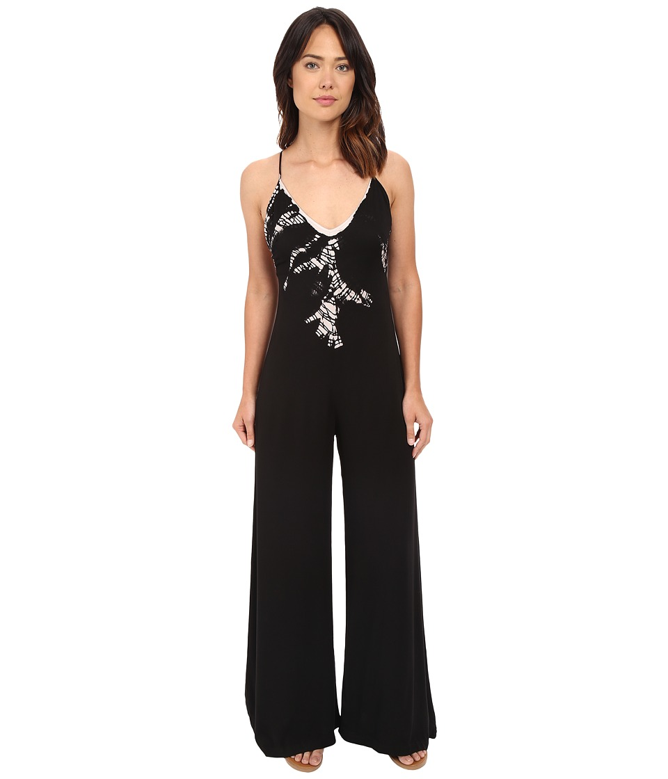 Gypsy05 - Spaghetti Halter Deep Back Jumper (Black) Women's Jumpsuit & Rompers One Piece