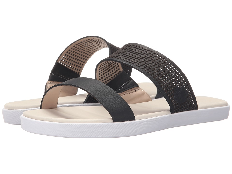 Lacoste - Natoy Slide 216 1 (Black/Natural) Women's Slide Shoes