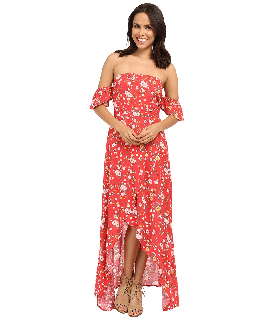 Brigitte Bailey - Nichelle Off the Shoulder Floral Maxi Dress (Red) Women's Dress