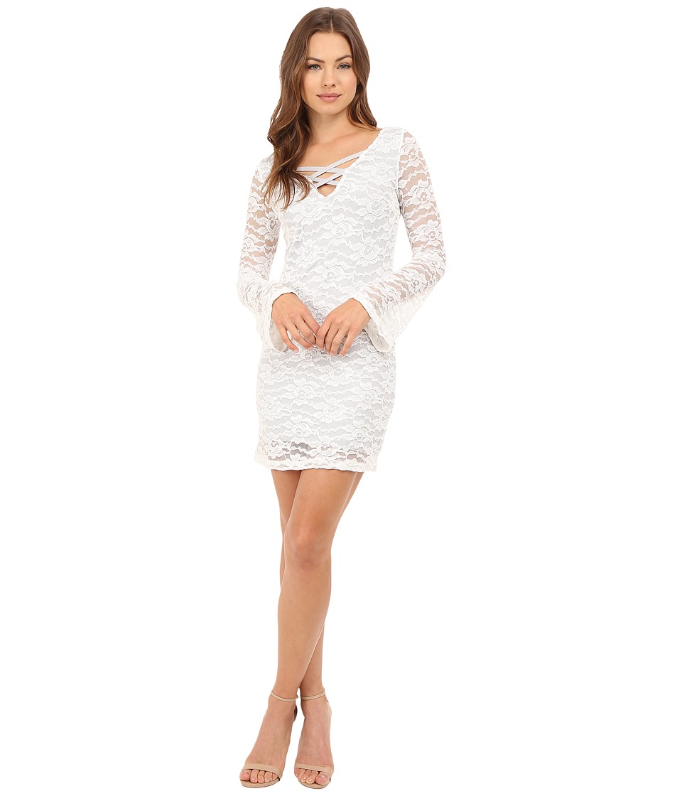 Brigitte Bailey - Kelli Long Sleeve Lace Dress (White) Women's Dress