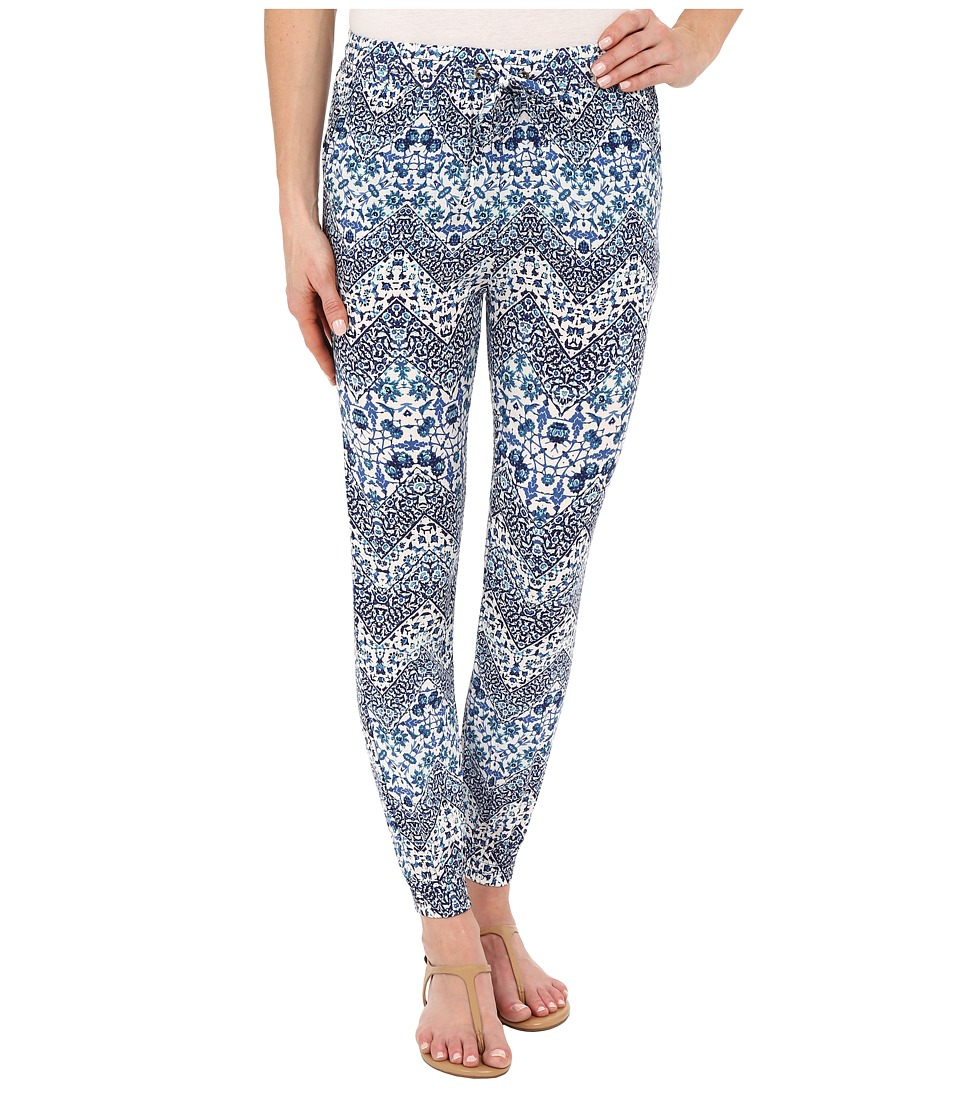 Brigitte Bailey - Mariah Printed Pants (Blue) Women's Casual Pants