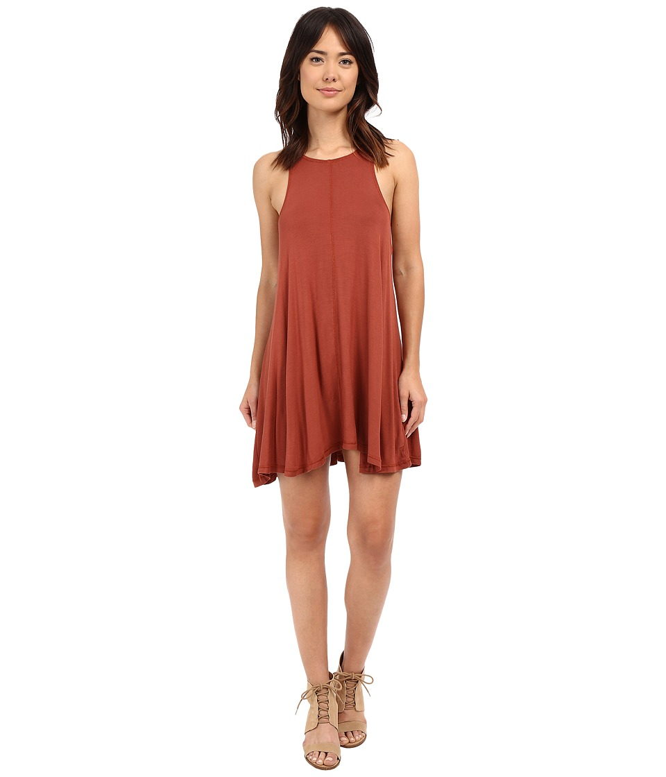 Culture Phit - Teagan Racerback A-Line Dress (Rust) Women's Dress