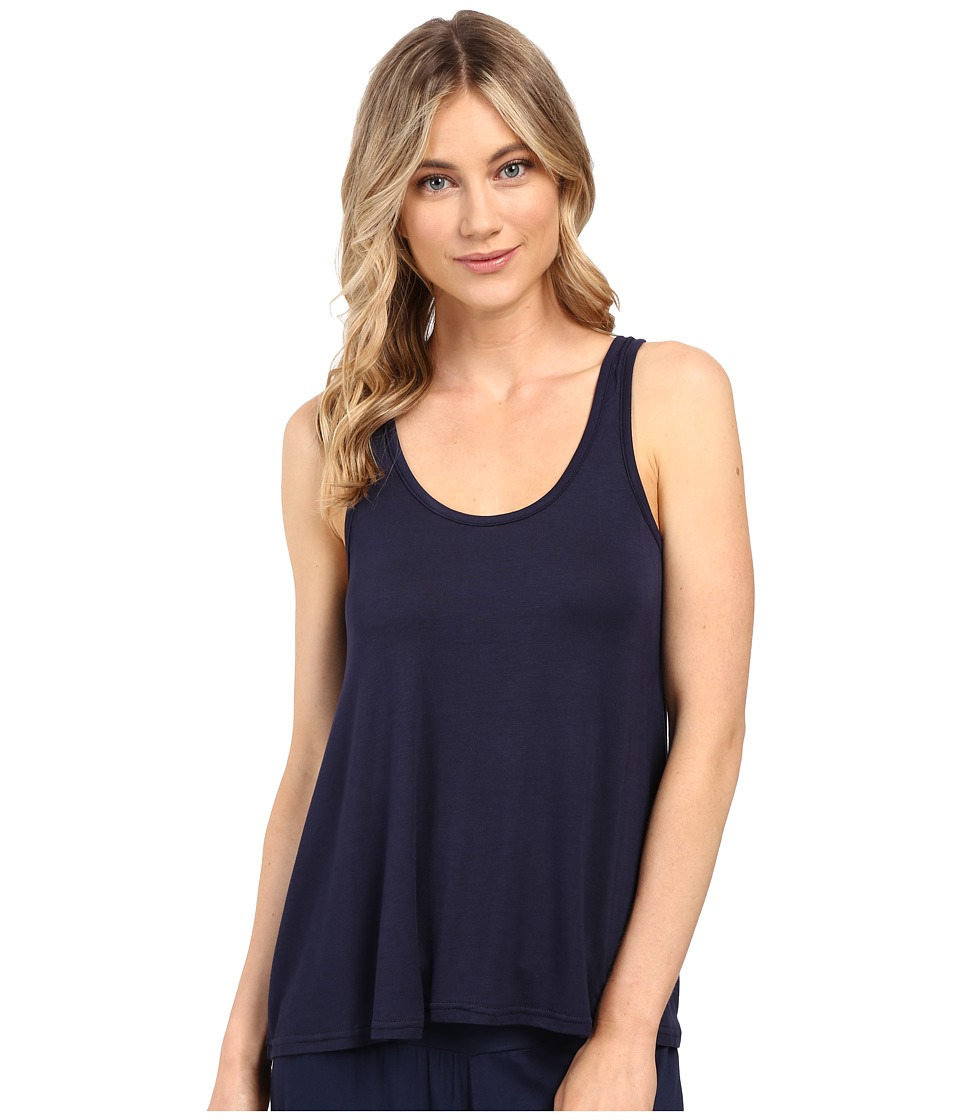 Splendid - Scoop Neck Drapey Tank Top (Navy Iris) Women's Sleeveless