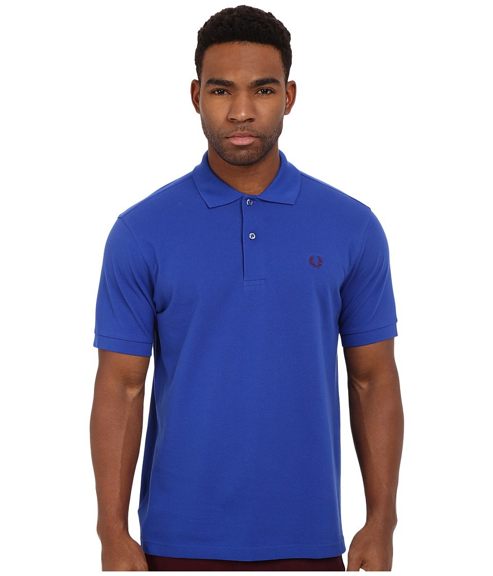 Fred Perry - Plain Fit Fred Perry Shirt (Regal) Men's Short Sleeve Knit