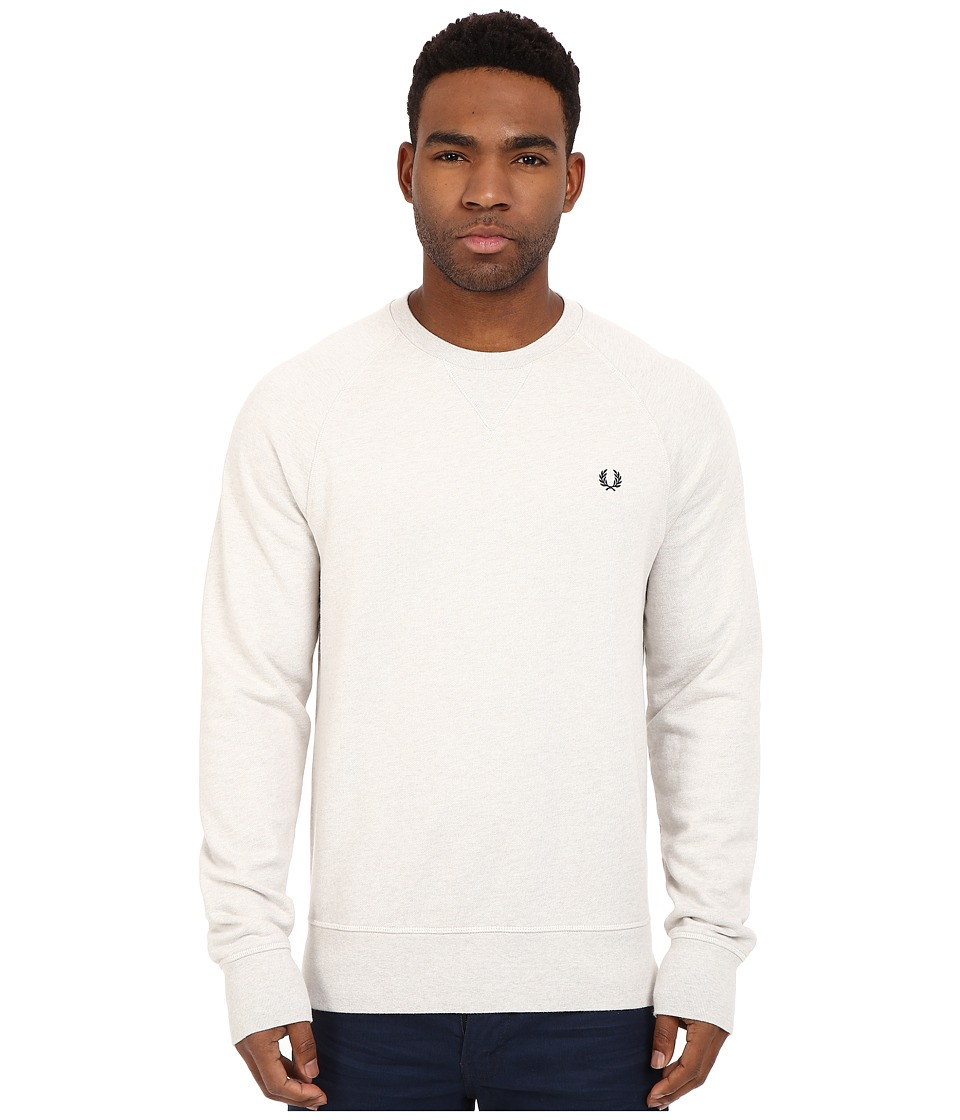 Fred Perry - Loopback Crew Sweater (Natural Marl) Men's Sweatshirt