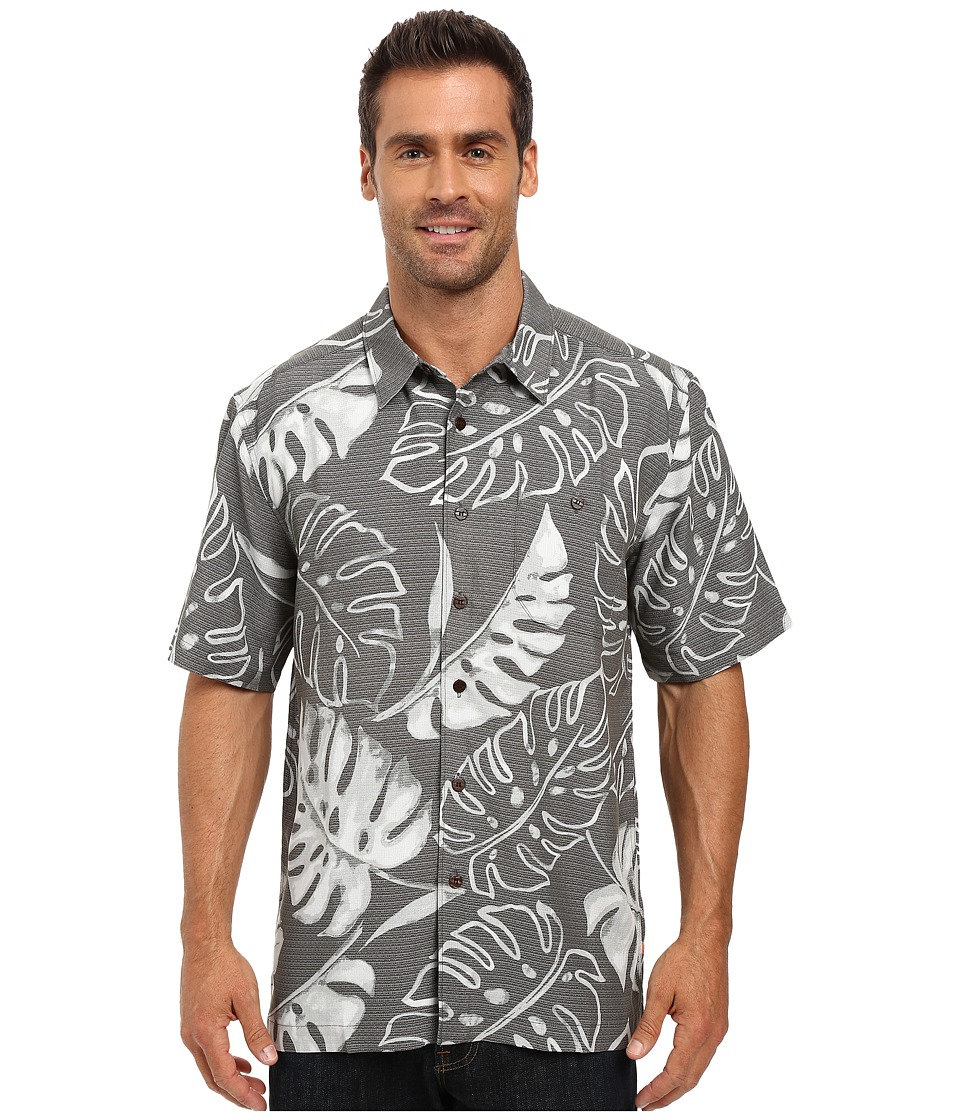 Quiksilver Waterman - Taravao Short Sleeve Woven (Gunmetal) Men's Short Sleeve Button Up