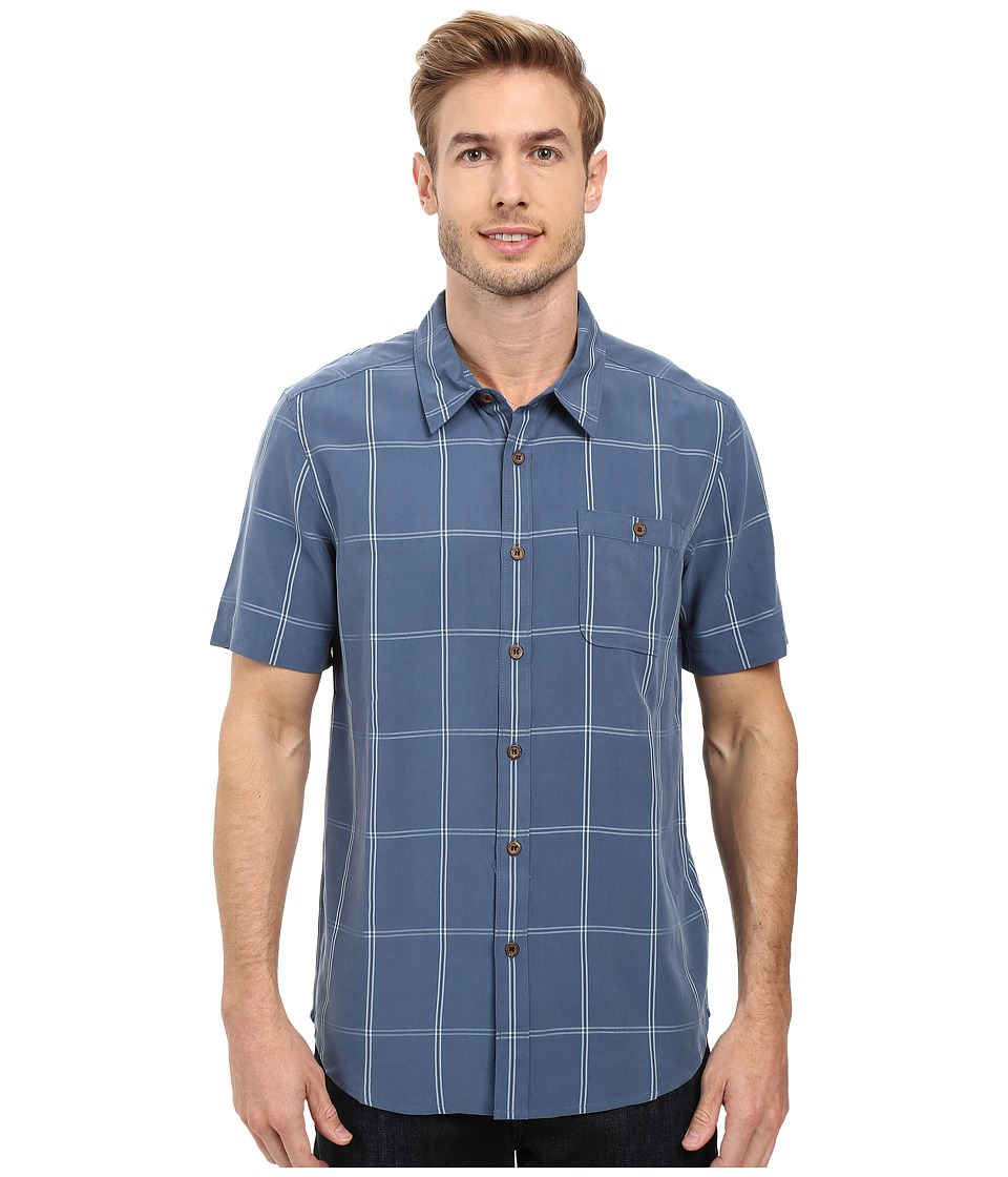 Quiksilver Waterman - Slow and Steady Tailored Short Sleeve Woven (Ensign Blue) Men's Short Sleeve Button Up