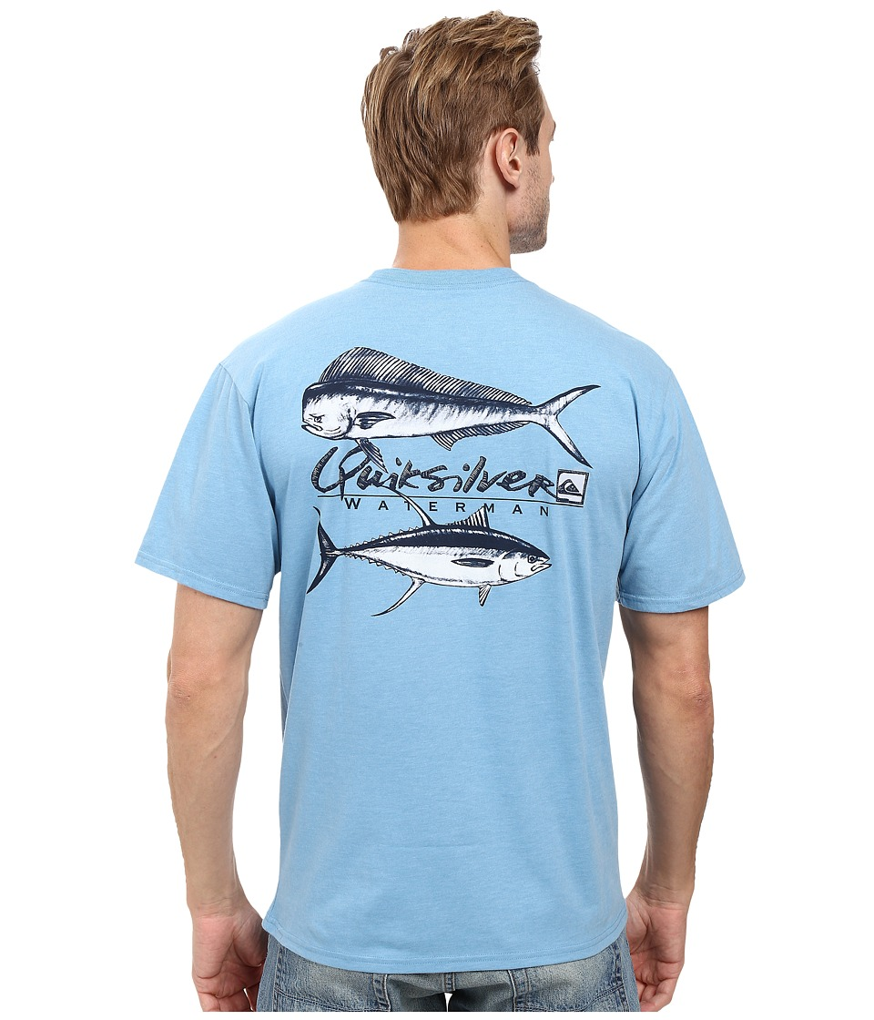 Quiksilver Waterman - Mahi Ahi T-Shirt (Niagara Heather) Men's T Shirt