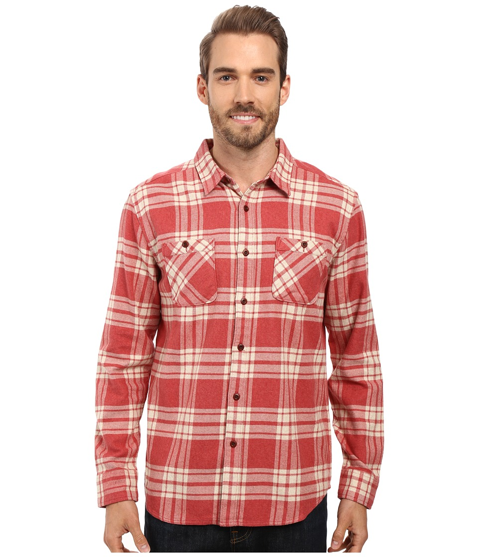 Quiksilver Waterman - Worthy Vessel Tailored Long Sleeve Woven (Rosewood) Men's Clothing
