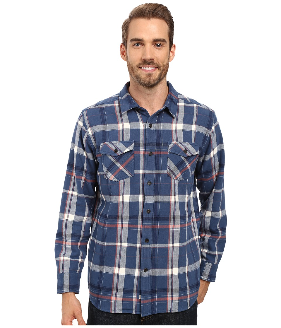Quiksilver Waterman - Yakatat Tailored Long Sleeve Woven (Ensign Blue) Men's Clothing