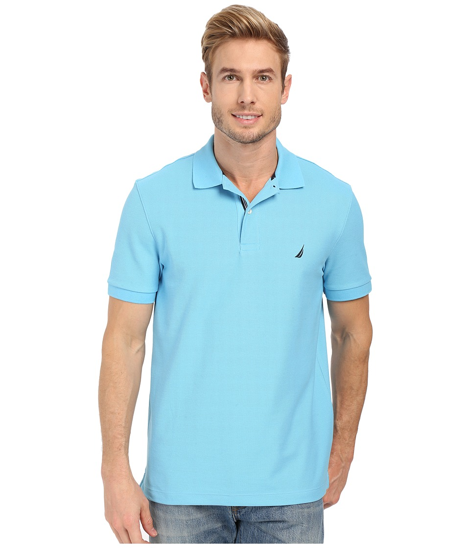 Nautica - Short Sleeve Solid Deck Polo (Blue Grotto) Men's Short Sleeve Knit