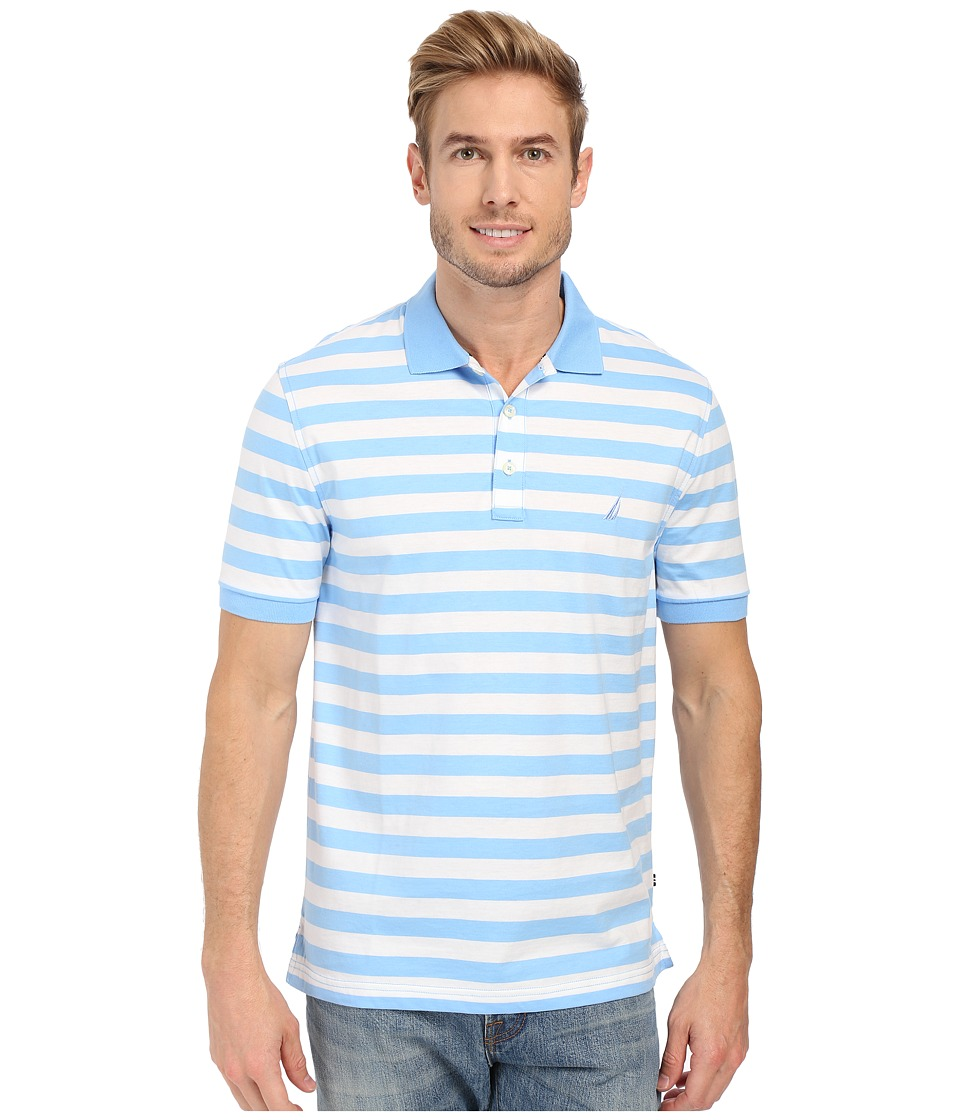 Nautica - Short Sleeve Rectech Polo (Blue Wind) Men's Clothing