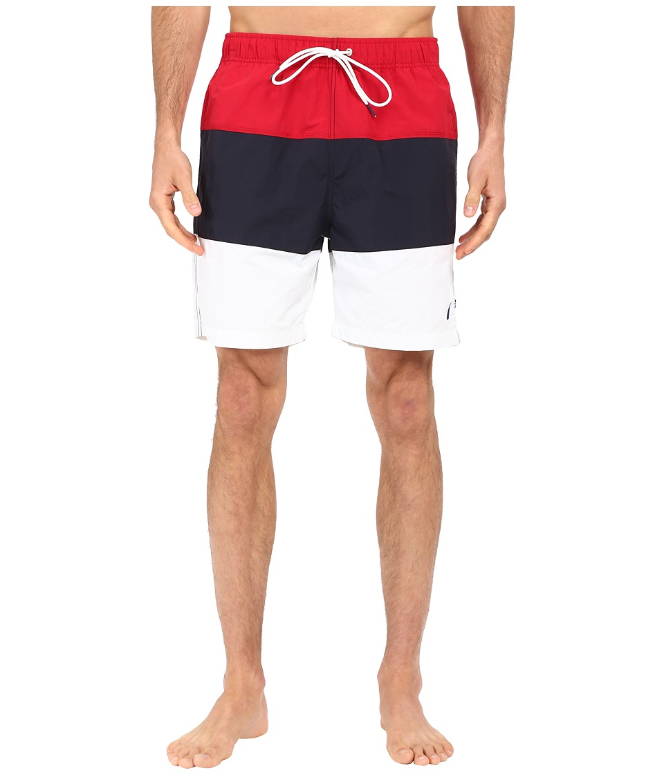 Nautica - Tri-Color Block Trunk (Racer Red) Men's Swimwear