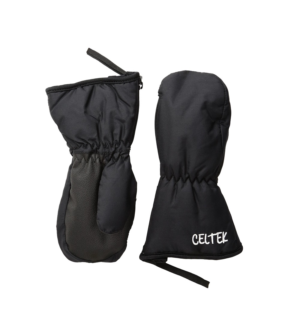 Celtek - Rookie Mitten (Little Kid/Big Kid) (Black) Over-Mits Gloves