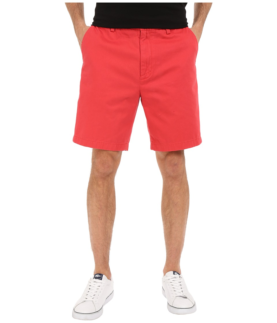 Nautica - Flat Front Deck Short (Sailor Red) Men's Shorts