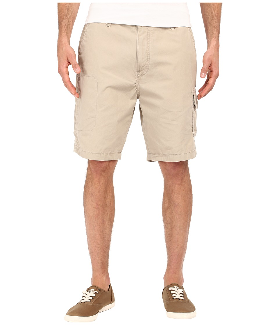 Nautica Sail Cloth Poplin Cargo Shorts (True Khaki) Men