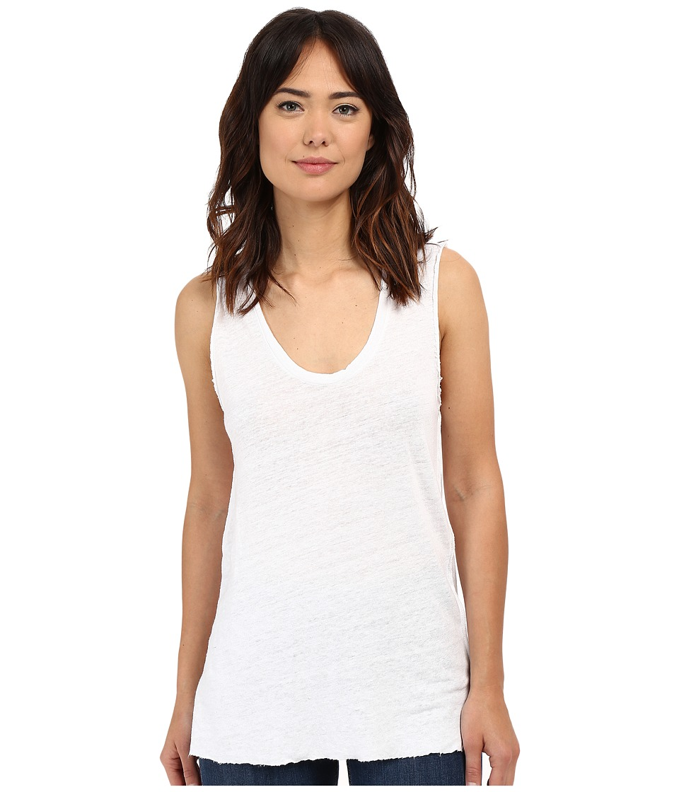 Project Social T - Boardwalk Linen Tank Top (White) Women's Sleeveless