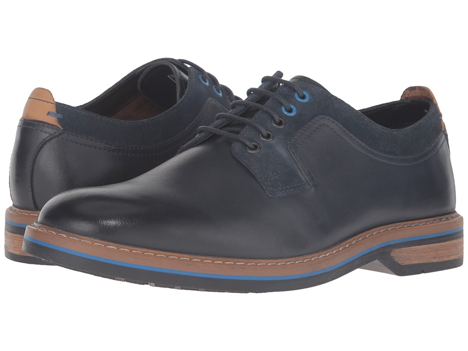 Clarks Pitney Walk (Dark Blue Leather) Men