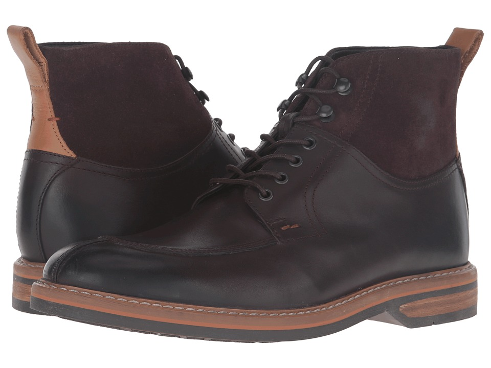 Clarks Pitney Hi (Brown Leather) Men