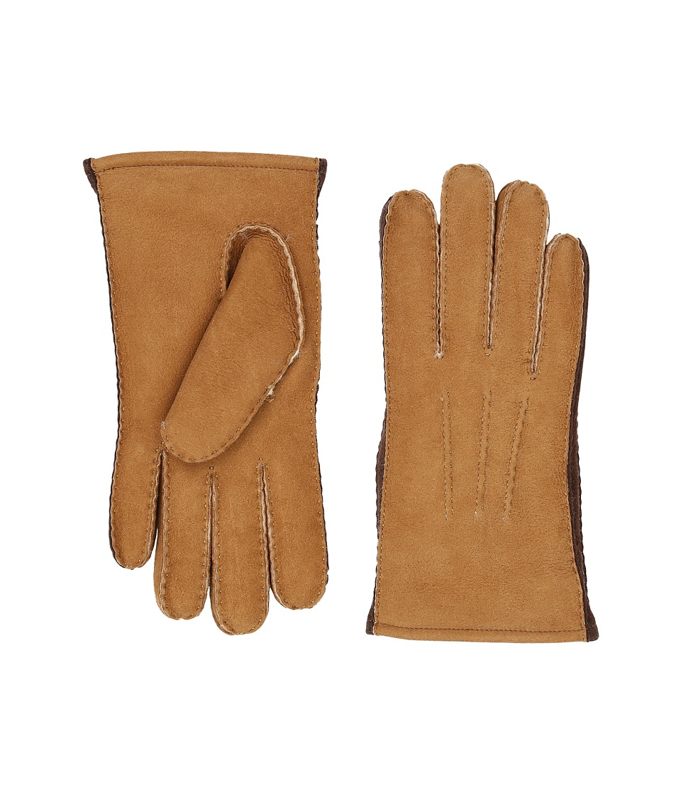 UGG - Sheepskin Side Wall Gloves (Chestnut Multi) Extreme Cold Weather Gloves