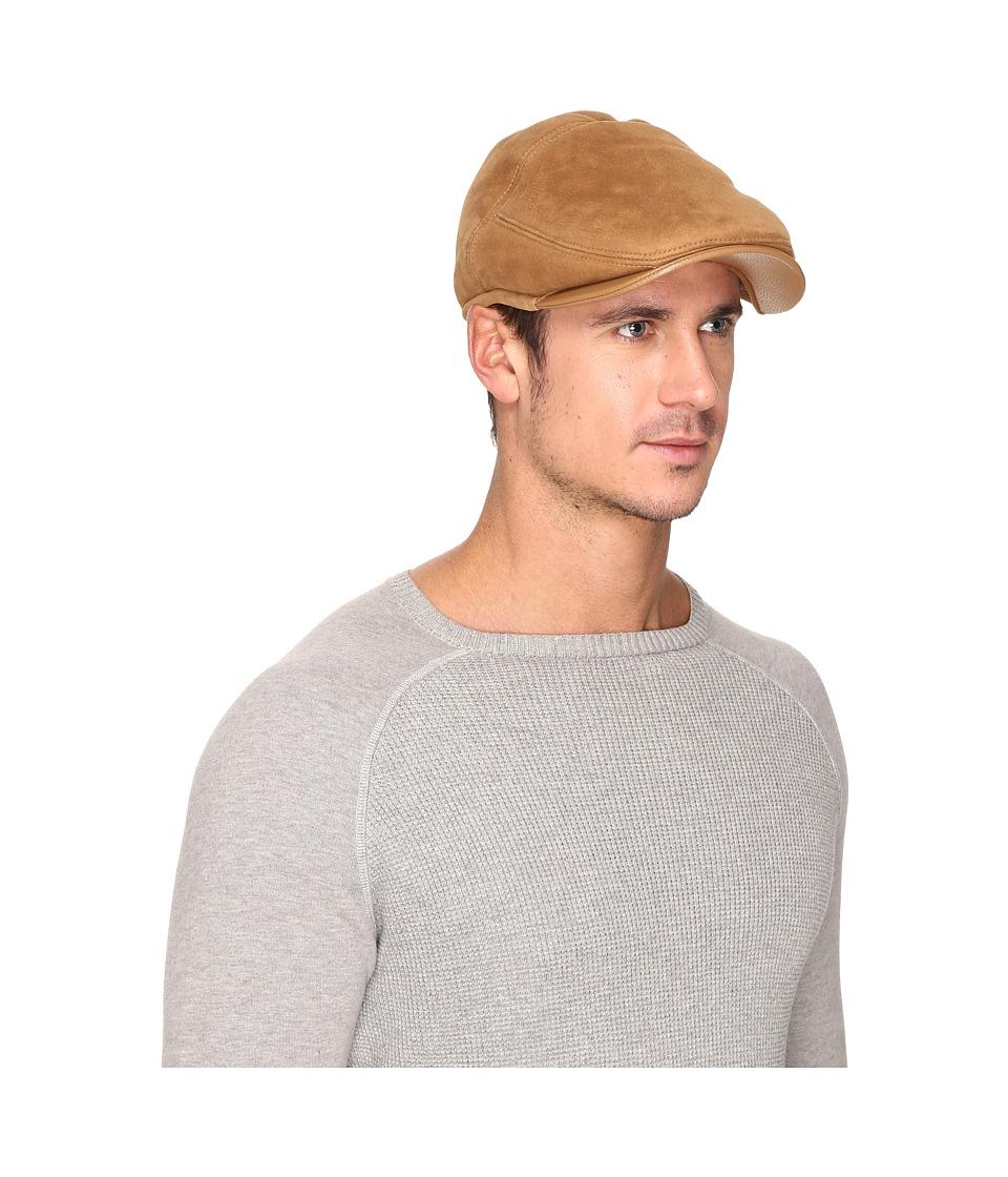 UGG - Sheepskin Ivy Hat w/ Leather Trim (Chestnut) Traditional Hats