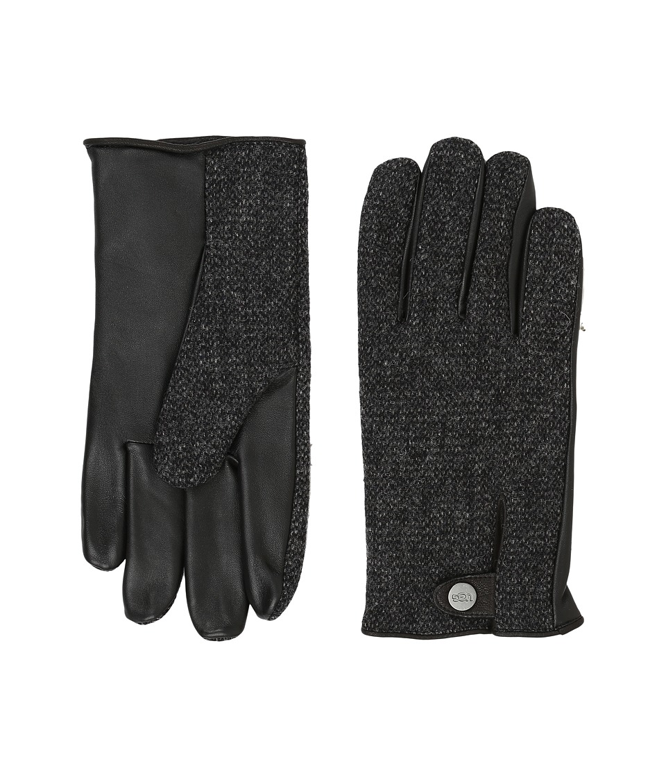 UGG - Woolrich Smart Gloves w/ Leather Trim (Black Multi) Extreme Cold Weather Gloves